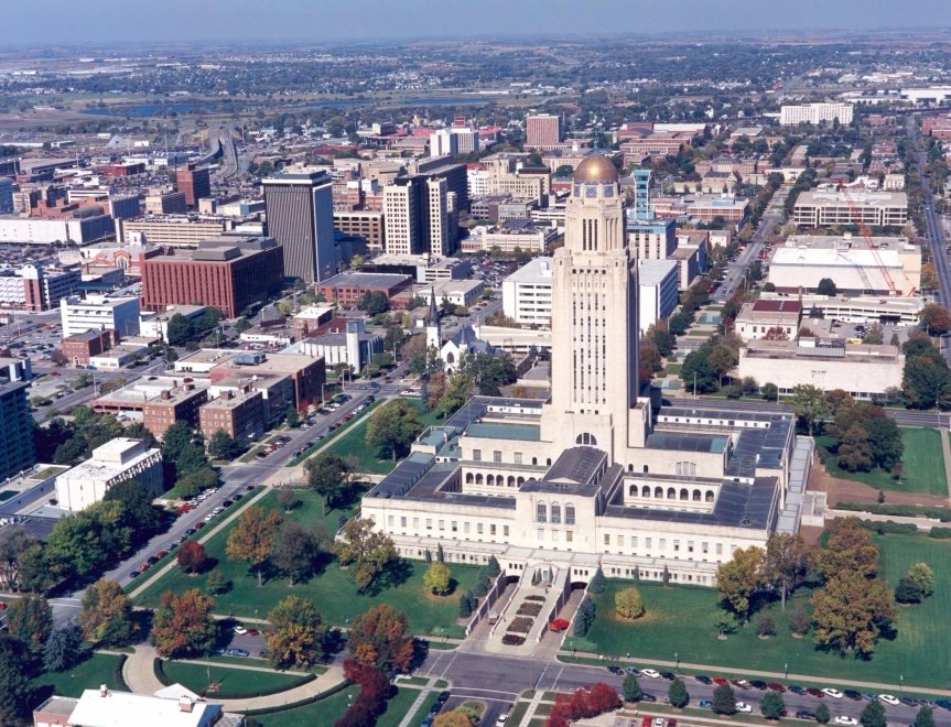 Downtown Lincoln, Nebraska (for those of you not familiar with it)